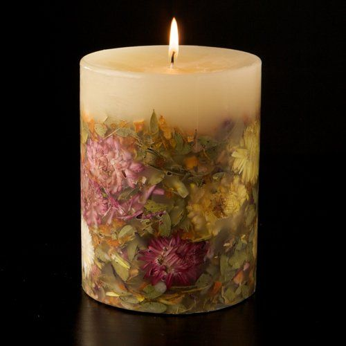 "Rosy Rings Honeysuckle Orange Blossom Botanical Candle 5"" x 6. 5"""