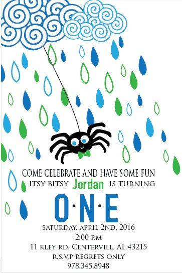 Itsy Bitsy Spider Birthday Party by UniquelyYours442 on Etsy