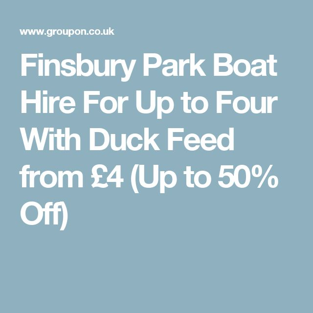 Finsbury Park Boat Hire For Up to Four With Duck Feed from £4 (Up to 50% Off)