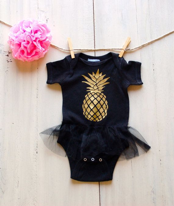 Pineapple Newborn Infant Tutu Onesie Bodysuit by ICaughtTheSun
