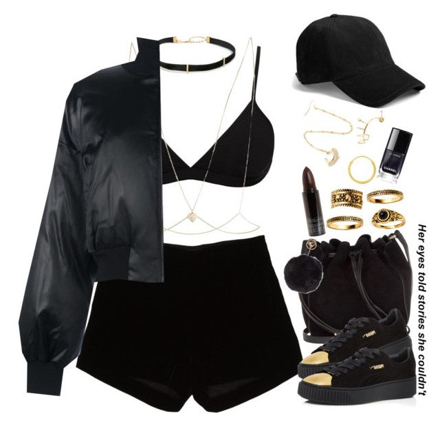 """""""11-21-16 black pumas"""" by no-flex-zone ❤ liked on Polyvore featuring Calvin Klein, Andrew Gn, Urbiana, Puma, rag & bone, Helmut Lang, River Island, Humble Chic, Serge Lutens and Jennifer Zeuner"""