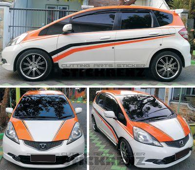 Honda Jazz RS White - Roof Wrap & Custom Stripe St...