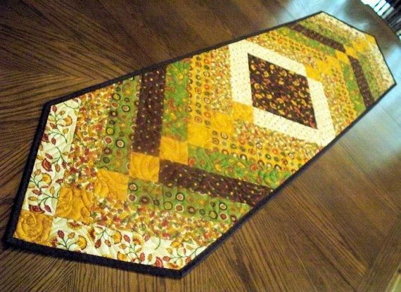 Autumn Table Runner Quilt - French Braid