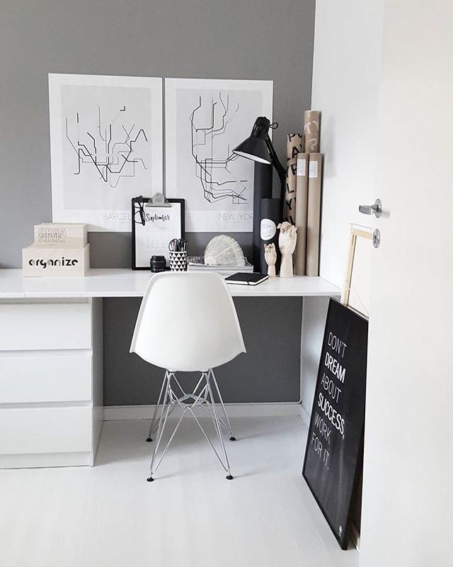 358 best bureau am nagement d co images on pinterest desk home and - Amenagement bureau ikea ...