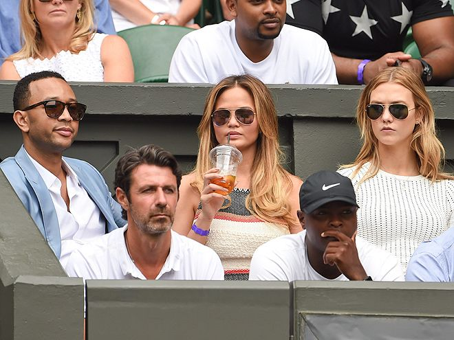 Star Tracks: Tuesday, July 7, 2015 | SPECTATOR SPORT | On the sidelines, John Legend, Chrissie Teigen and Karlie Kloss land prime seats for the big Wimbledon showdown.