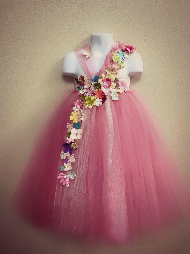 Save 15% Pink Flower girl dressFairy tutu by Sweetcheekstutushop