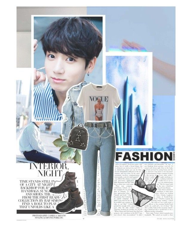 """""""»World was so big, I was so small«»JUNGKOOK—BEGIN»"""" by parkeunseo on Polyvore featuring Balmain, Dolce&Gabbana, UNIF, American Eagle Outfitters, bts, jungkook, begin and jeonjunggug"""
