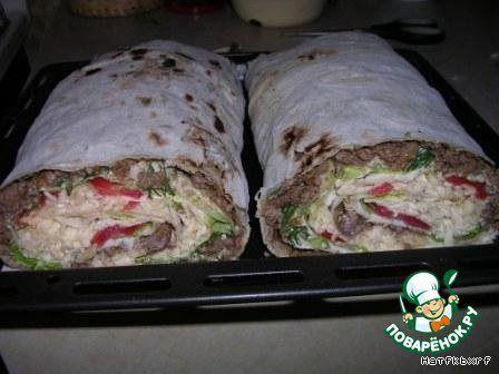 Рулет из лаваша - кулинарный рецепт