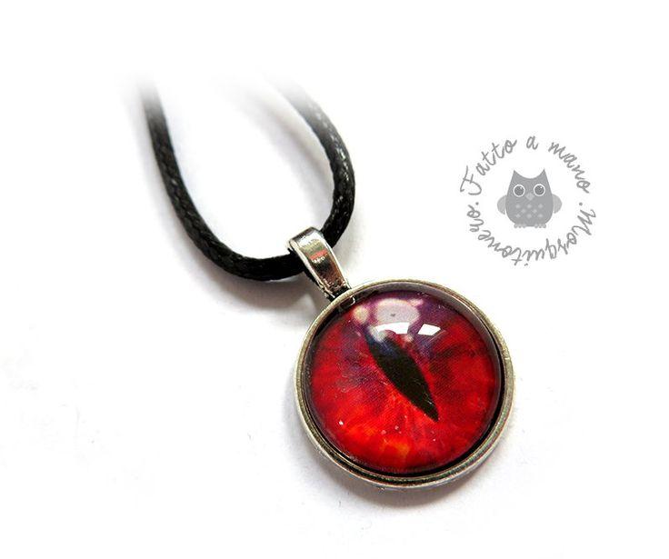 Collana da donna uomo pendente ciondolo Occhio di Drago fantasy, by Mosquitonero Shop, 9,90 € su misshobby.com