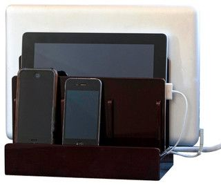Cherry High Gloss Multi Charging Station - contemporary - home office products - by Great Useful Stuff