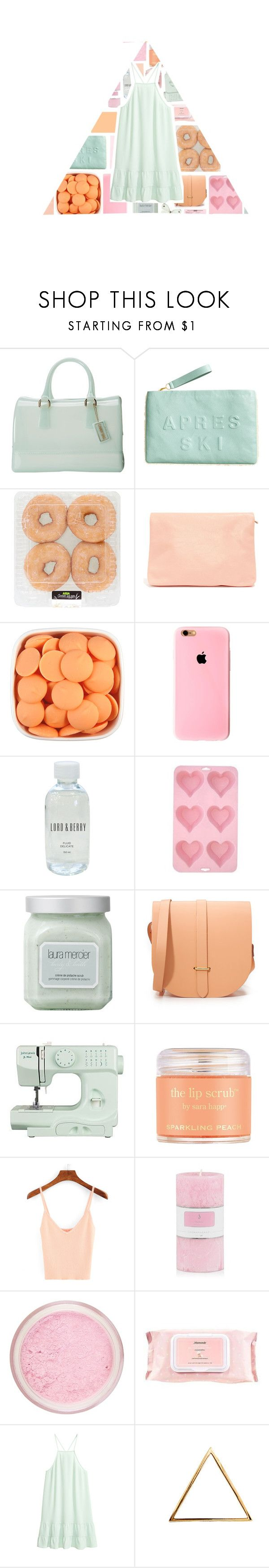 """""""Lovely Summer Pastels"""" by stelbell ❤ liked on Polyvore featuring Furla, H&M, Lord & Berry, CO, Laura Mercier, The Cambridge Satchel Company, John Lewis, Sara Happ, Mamonde and Glenda López"""