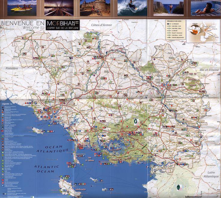 Carte Touristique du Morbihan/ Tourist Map 2015_2; Bretagne Sud