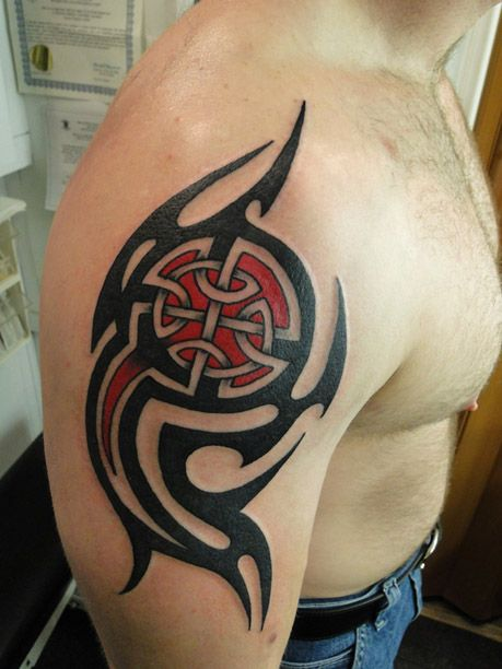 Celtic Tribal Shoulder Tattoos