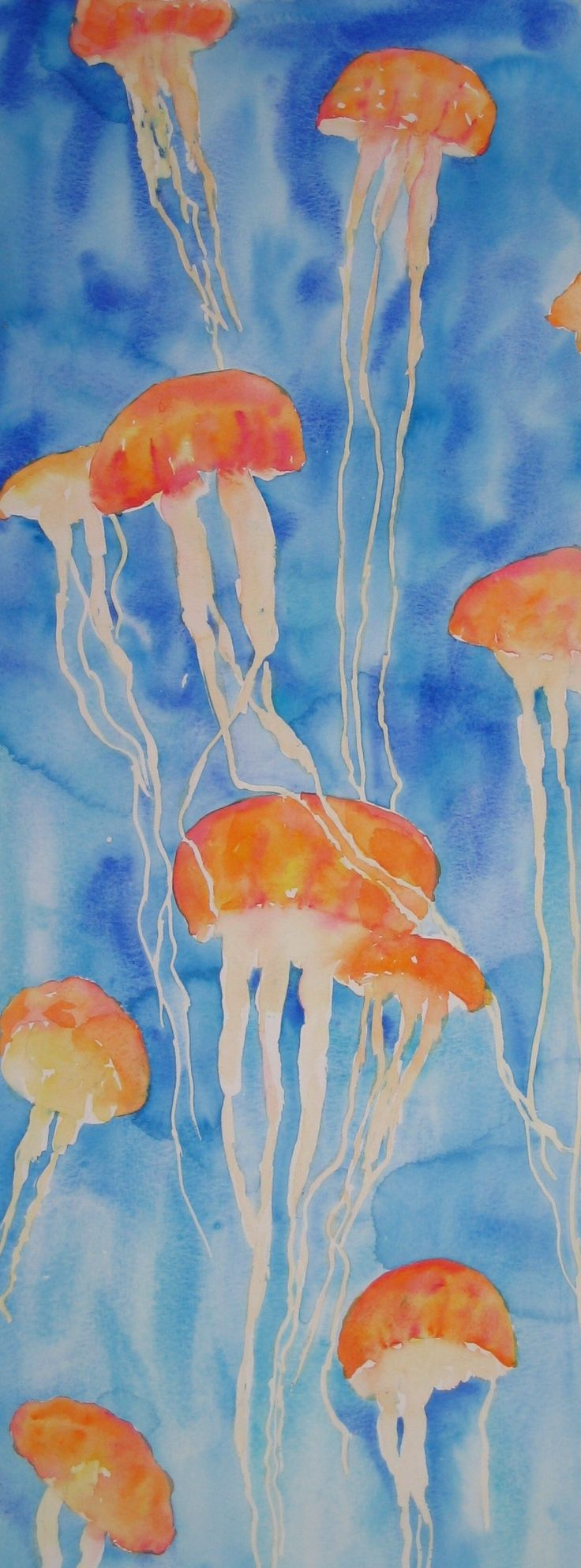 """""""Jellyfishes"""" - watercolour"""