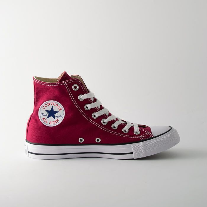 converse all star donna alte bordeaux