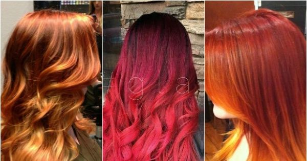 Rude ombre to gorący trend w koloryzacji włosów 2015. Zobaczcie najlepsze pomysły na włosy ombre w odcieniach rudości.