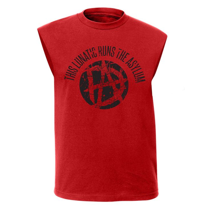 Dean Ambrose Lunatic WWE Mens Sleeveless Red Muscle T-shirt - http://bestsellerlist.co.uk/dean-ambrose-lunatic-wwe-mens-sleeveless-red-muscle-t-shirt/