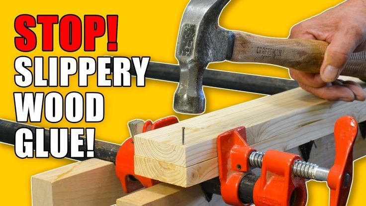 5 great ways to stop your boards from slipping when you glue them! #woodworkingprojects #glue