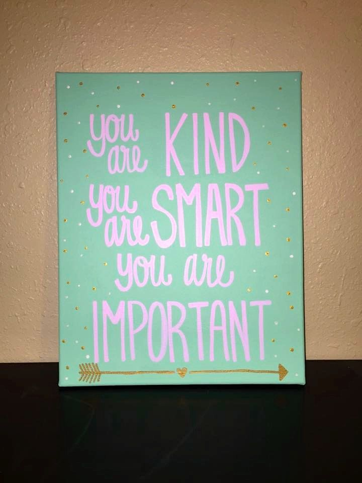 You Is Kind You is Smart You Is Important The Help Canvas Quote by RestoreandSparkle on Etsy
