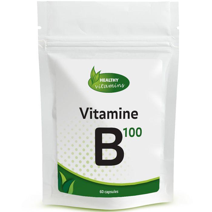 # Vitamine #B100 kan helpen bij vermoeidheid en speelt een centrale rol bij de omzetting van voeding in energie. B vitamines zijn ook belangrijk voor het zenuwstelsel. B vitamines dragen bij tot het behoudt van een gezonde huid, en haargroei. Prijs per 60 capsules: €14,95