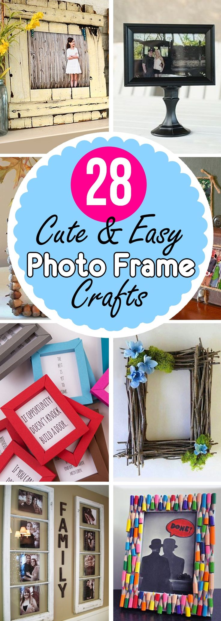 Have you ever looked around your home and thought it needed a makeover? We've all been there, but who has the time and money for a redesign? If your home needs a style update but you're short on time and cash, you can easily transform the look of a room with DIY picture frame crafts. Creating yo...