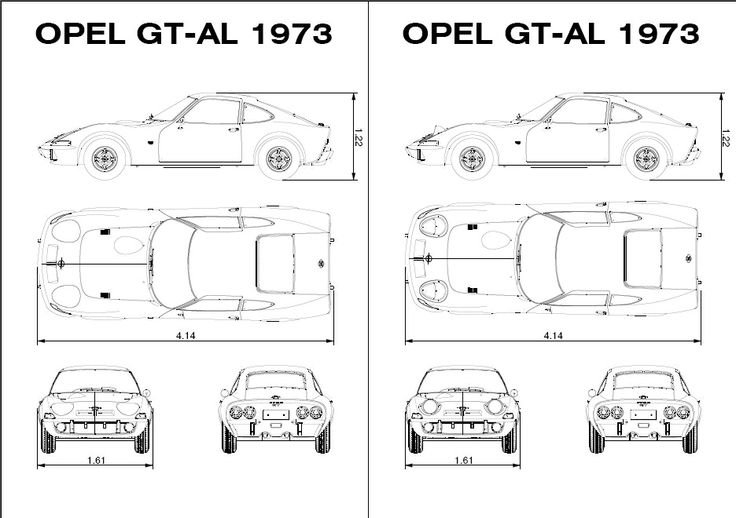 diagram size opel gt technical drawing opel gt 1900. Black Bedroom Furniture Sets. Home Design Ideas