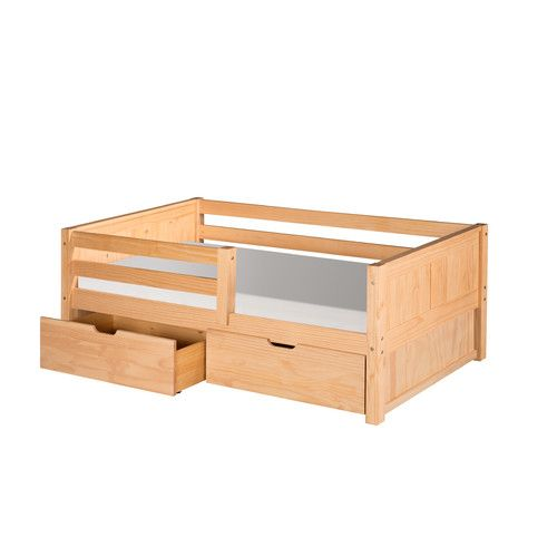 Found it at Wayfair - Twin Convertible Toddler Bed with Storage
