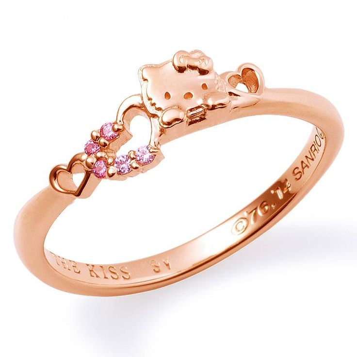 Rose gold Hello Kitty ring.