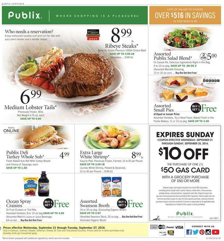 Publix Weekly Ad September 14 - 20, 2016 - http://www.olcatalog.com/grocery/publix-weekly-ad.html