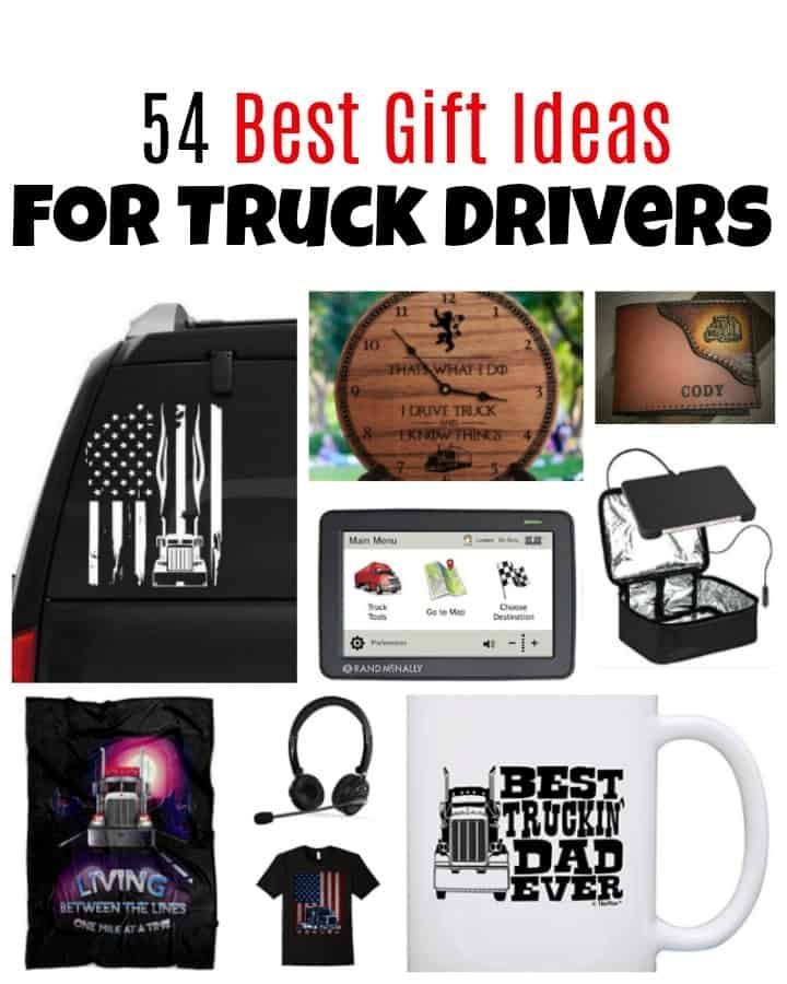 54 Gift Ideas For Truck Drivers They Re Sure To Love Truck Driver Gifts Gifts For Truckers Diy Gifts For Him