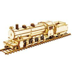 Wooden Model Transportaion Kits Junior Series- Scale models Steam Locomotive
