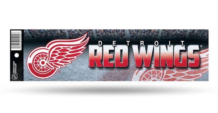 Detroit Red Wings NHL Glitter Bumper Sticker