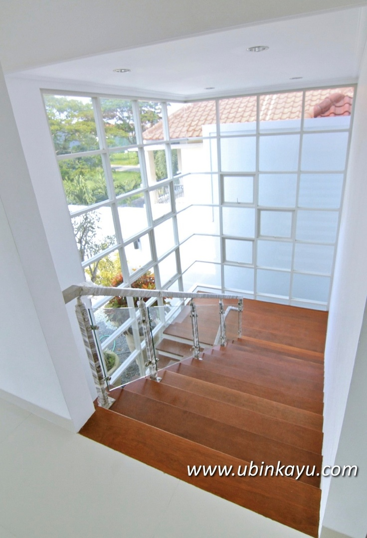 Big window on stairs area