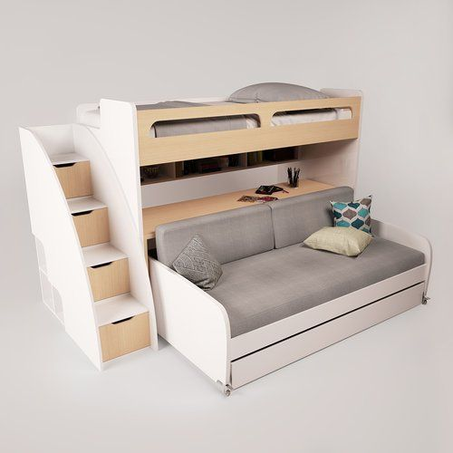 Bel Mondo Twin Bunk Bed with Trundle $2859.99