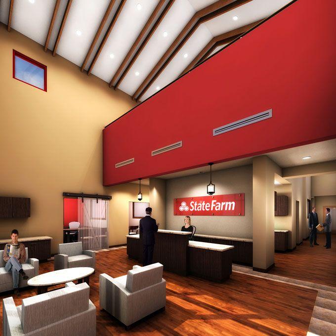 Wall Art For Insurance Office : Matt schomburg state farm office building prevot design