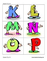 alphabet clip art uppercase letters this set of free clip art includes fun cartoon - Fun Letters To Print
