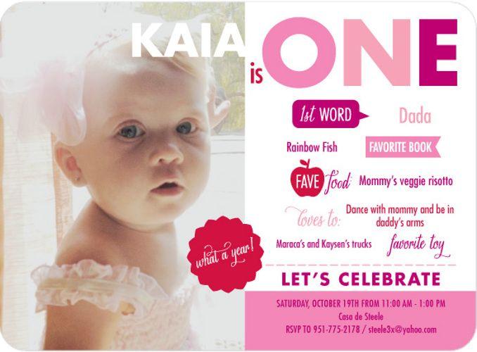 85 best Best Birthday Invitations Ideas images on Pinterest - fresh sample of invitation card for 1st birthday