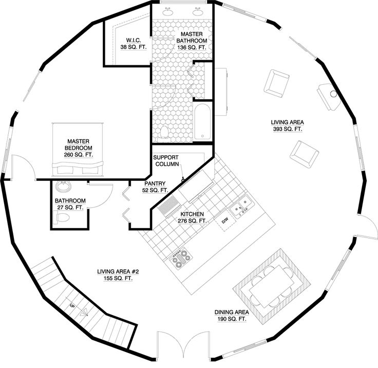 Round House Floor Plans Architecture