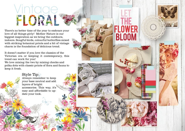 Mr Price Home Spring Trend 2012  Floral is in. Bring the essence of Spring into your home.
