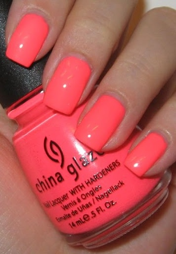 """have this on now and LOVE it! """"flip flop fantasy"""" by china glaze ..perfect neon coral pink! :) To get free maybelline mascara go to http://pinterestpromotions.com/maybelline.php #makeup #mascara #free"""