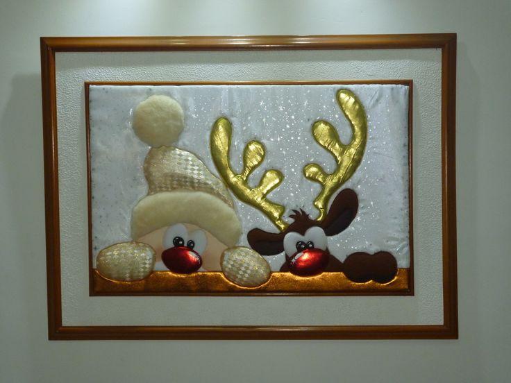 Cuadro en falso patchwork, creación de Clarines Revelo | Navidad ...