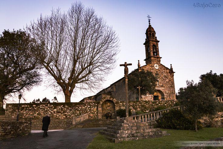 Conxunto da fonte, cruceiro e igrexa de Vedra #Vedra #Turismo #Audioguias #Fotografia #Galicia #Photography