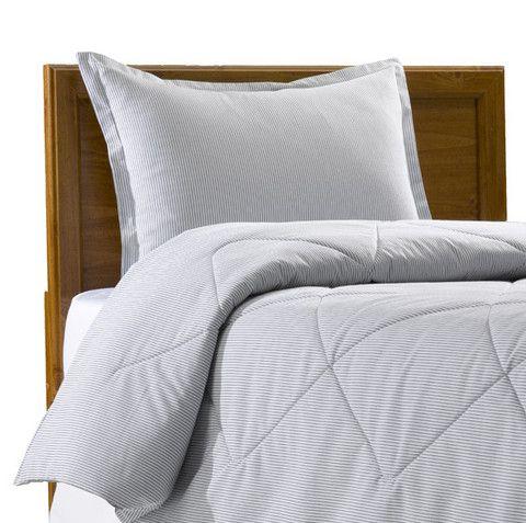 Oxford Cloth Gray Pin Stripe Comforter. College ComforterDorm Room ... Part 68
