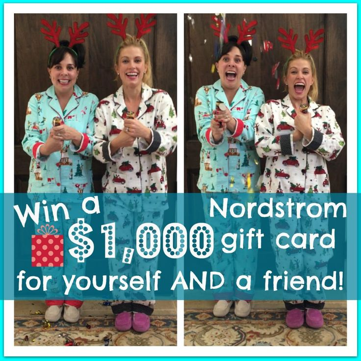 Head to the blog right now to enter this giveaway!  You can win a $1,000 gift card for yourself AND A FRIEND!