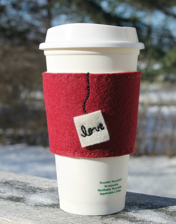 Cup of Love Coffee Cozy by seetheworldtogether