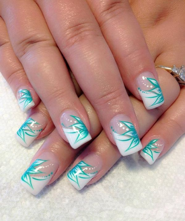 The 25+ best Teal nail designs ideas on Pinterest | Pretty ...