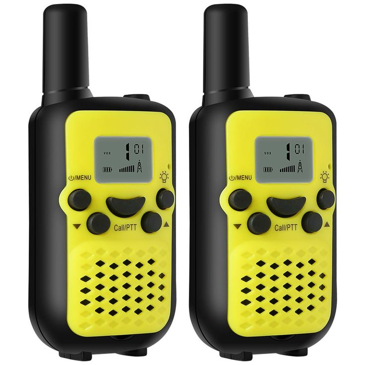 BEBONCOOL Durable Kids Walkie Talkies, 22/38 channels FRS/GMRS 2 Way Radio(up to 5 Miles) Walkie Talkies for Kids (1 Pair)- Yellow