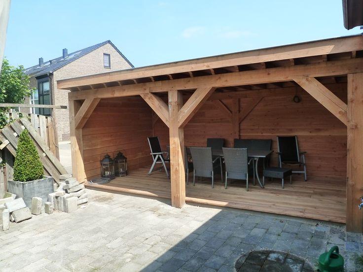 Houten veranda,