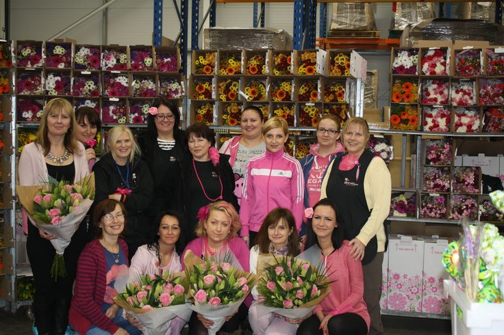 The ladies from our production department wearing it pink :-)