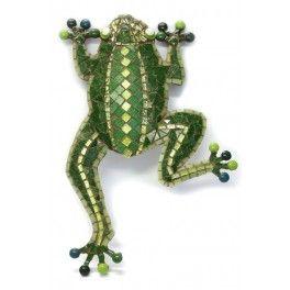 Grenouille en mosaïque couleur vert